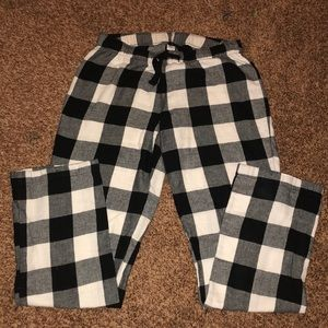 Old Navy Pajama Pants Black/White checkered